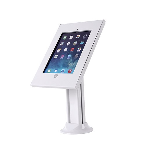 IPA2603SDW Anti-theft iPad Desk/Table Stand w/ Free-standing base White