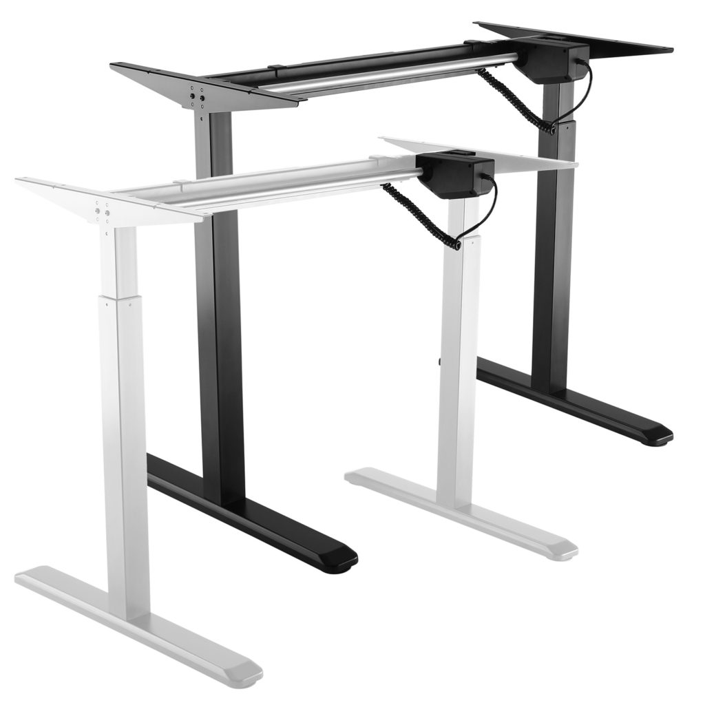 Allcam EDF01A electric height adjustable sit-stand desk black vs white