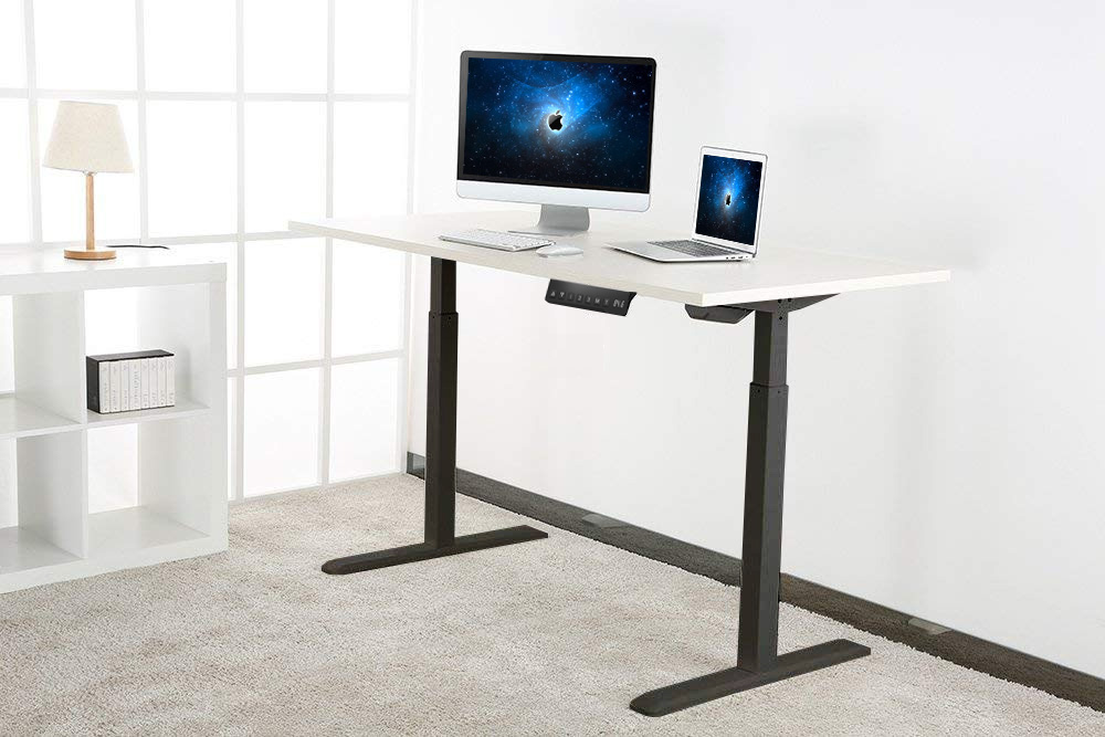 Allcam EDF01A electric height adjustable sit-stand desk for home working office