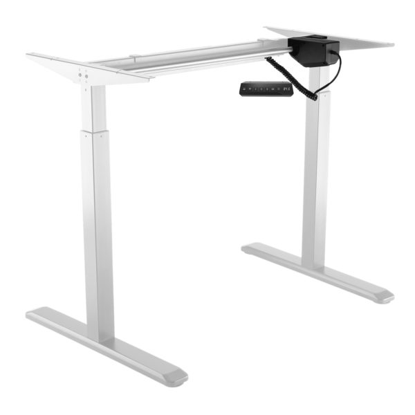 Allcam EDF01A electric height adjustable sit-stand desk white