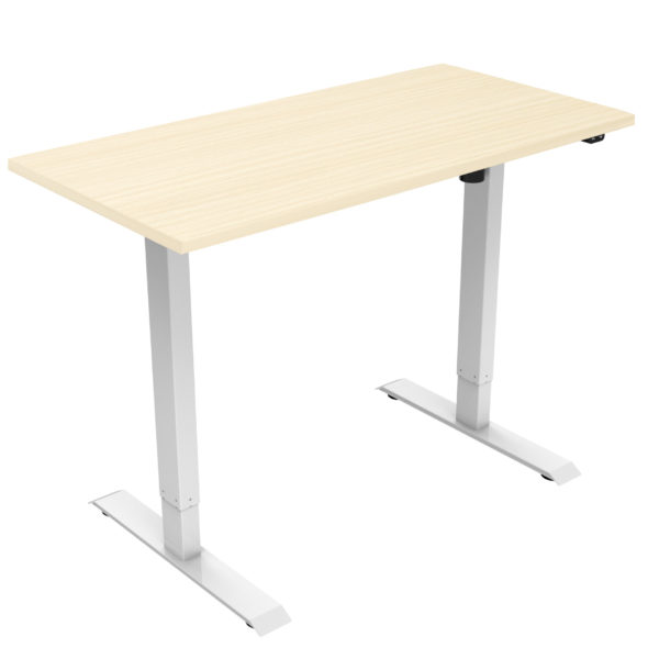 allcam desk electric height adjustable working from home standing desk maple