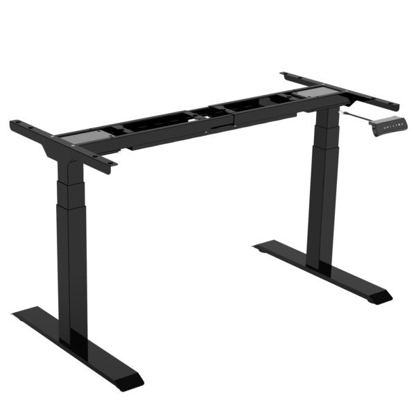 EDF32DB Dual-motor Height Adjustable 3-Stage Column Sit-stand Desk Frame Black