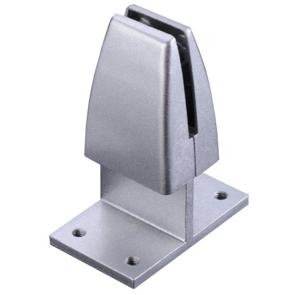 SEM03S Desk Privacy screen panel mount bracket double clamp in silver