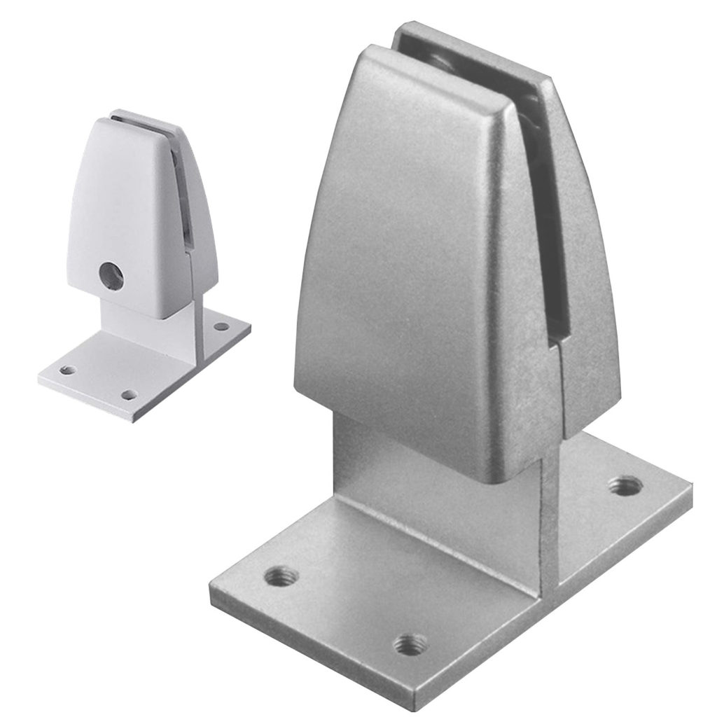 SEM03 clamp on screw down bracket for privacy screens desk dividers front back