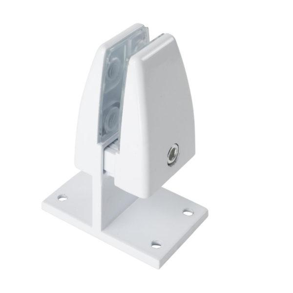 SEM03W office desk privacy screen panel mount bracket double clamp White