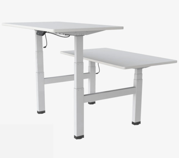 Allcam EDF04Q electric quad-motor height adjustable sit-stand desk white top