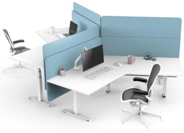 EDF13T triple motor sit stand desks workstation island