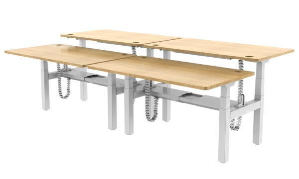 EDF34QW Electric motorised Back-to-Back Height-adjustable Sit-stand Desk Frame desk-tops