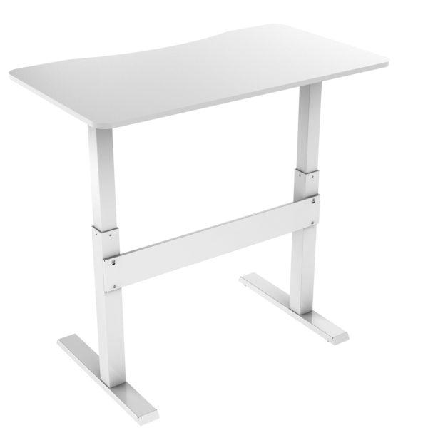 Allcam GDF03 sit stand desk standing workstation height adjustable high back