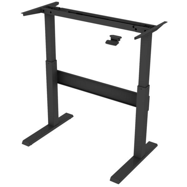 Allcam GDF03 sit stand desk frame height adjustable high black