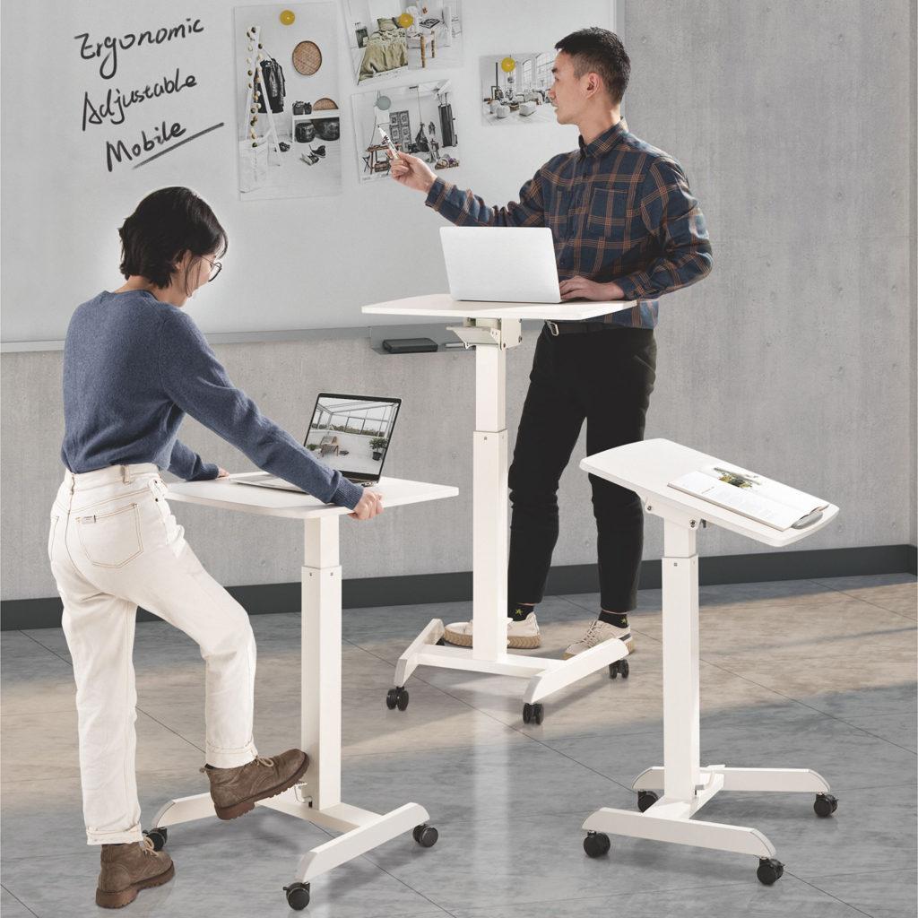 GSL07 Height Adjustable Laptop Table/ Lectern/ Reception Desk with Tilt vs no tilttable