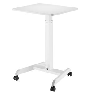 Allcam GSL07W gas spring height adjustable laptop table reception desk