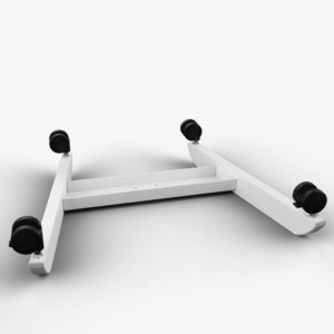 Allcam GSL07W gas spring height adjustable laptop table reception desk wheels