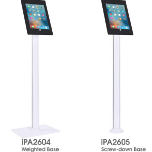 iPA2604 IPA2605 iPad 9.7 floor stand weighted screw-down base