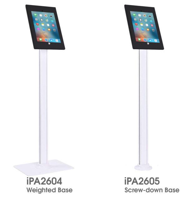iPA2604 IPA2605 iPad 9.7 floor stand weighted screw-down base