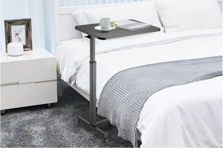 MBT01B height adjustable over-bed table desk