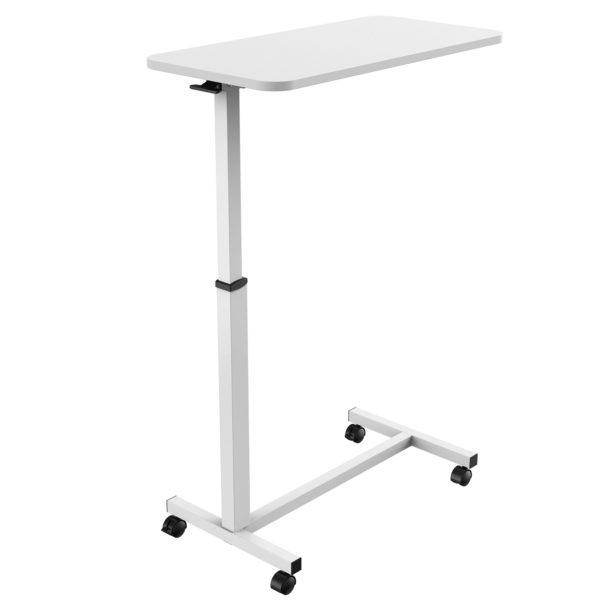 MBT01W height adjustable over-bed table desk