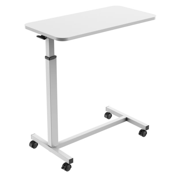 MBT01W height adjustable over-bed table desk low