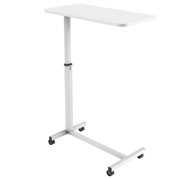 MBT01W height adjustable over-bed table desk right