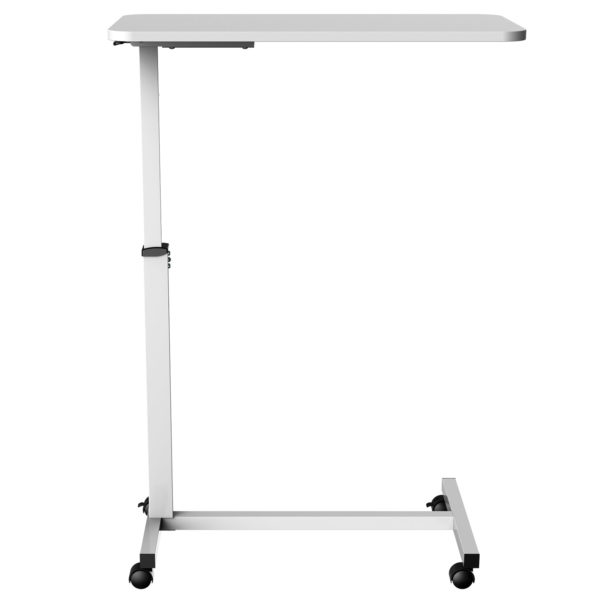 MBT01W height adjustable over-bed table desk front