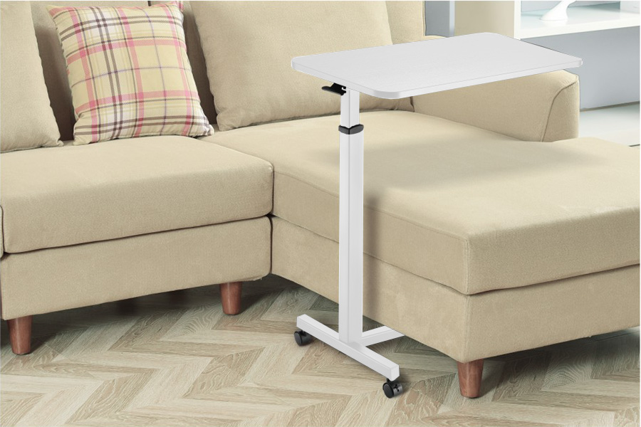 MBT01W height adjustable over-bed table desk over sofa