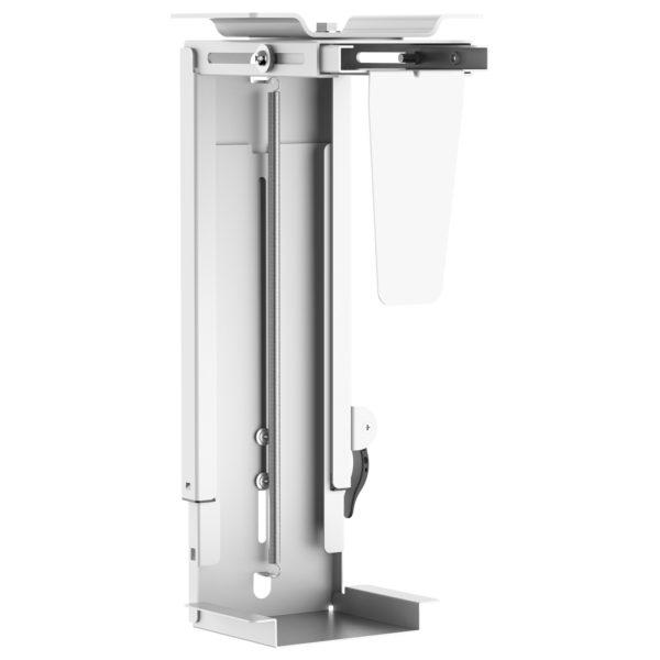 PH19UDW under desk CPU holder stepless height adjustment front view
