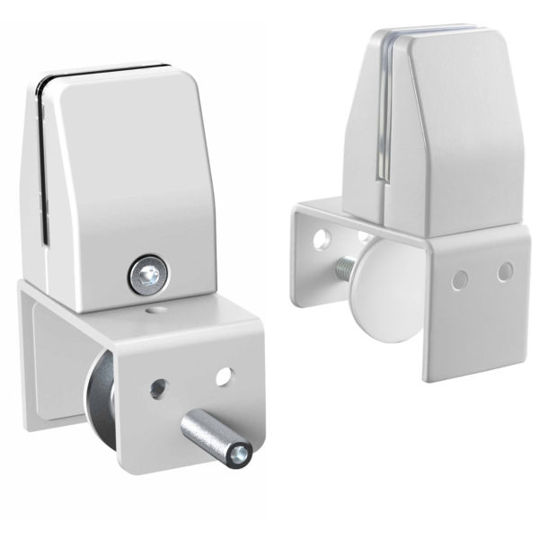 Allcam SEM04 clamp on bracket for coughGuard panels mount onto privacy screens White