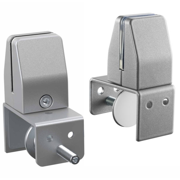 Allcam SEM04 clamp on bracket for coughGuard panels mount onto privacy screens silver