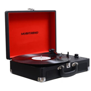 Musitrend MT316 vinyl LP record player open playing