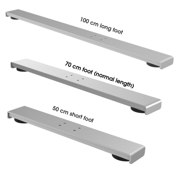 replacement feet for EDF12D EDF13T electric height adjustable sit-stand desks