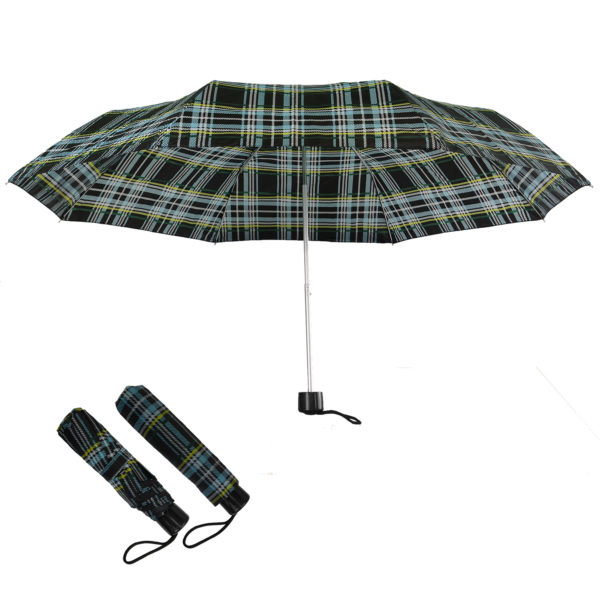 Compact Folding Travel Umbrellas/ 101cm/43″ mini Brolly Rainbow spots