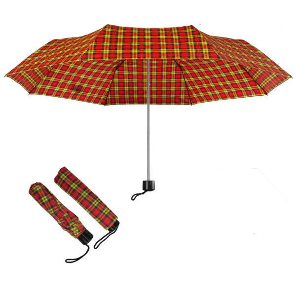Compact folding umbrellas Red-Yellow-Black Check