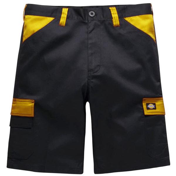 Dickies ED247SH Everyday Shorts Multi-pocket Work Shorts Black Yellow front