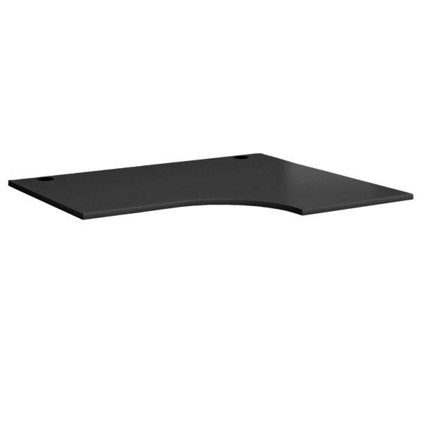 Black radial desks radial desktops made in Brittan UK