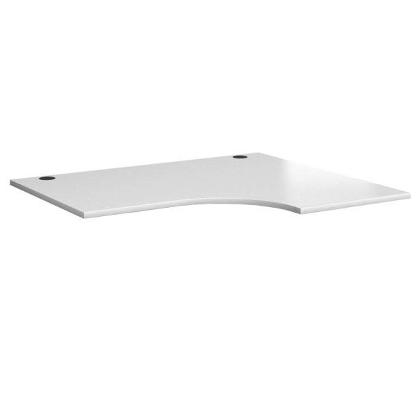 White radial desks radial desktops made in Brittan UK