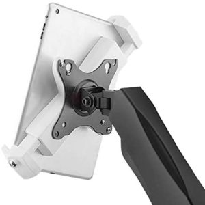 PAD2901 universal tablet ipad vesa mount adapter white for VESA 75x75 100x100 monitor arm
