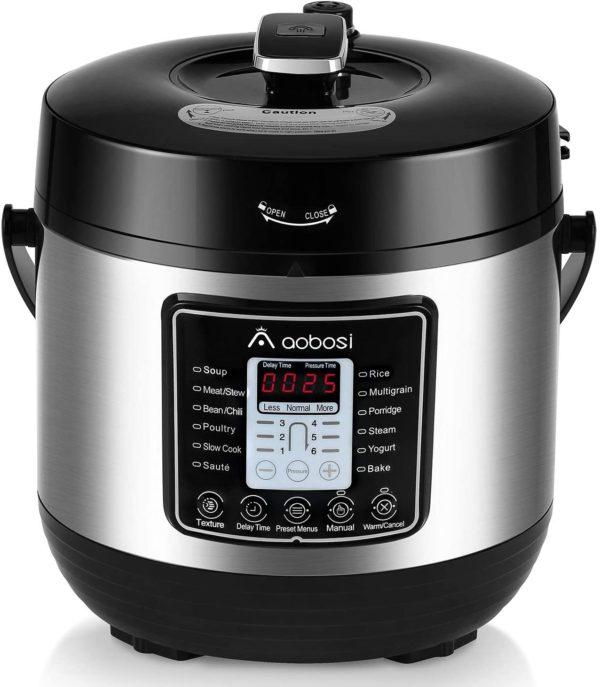 8-in1 pressure cooker rice poultry meat grain yogurt stainless steel