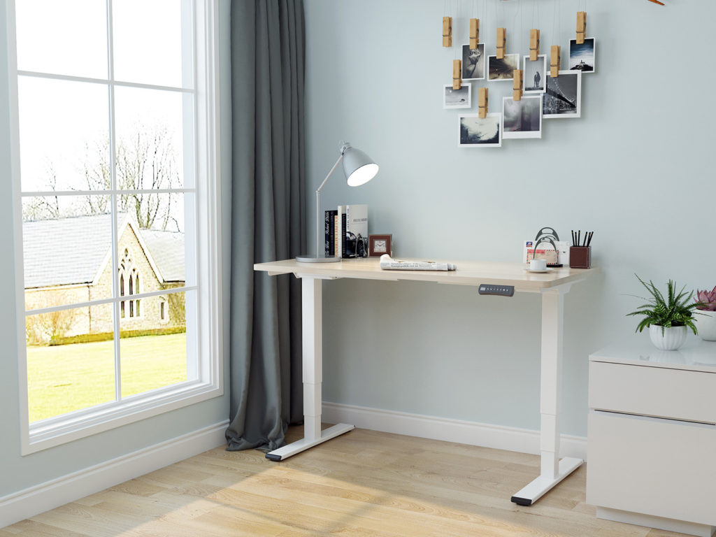 EDF42D electric dual-motor sit-stand desk standing table scene