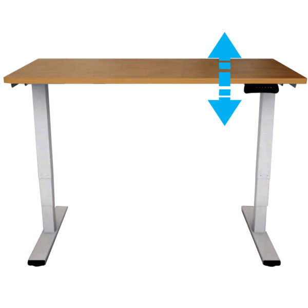 EDF42D Electric Dual-motor Sit-Stand Desk Frame Height Adjustable MFC top