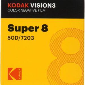 Kodak Vision 3 Super 8 50D Colour Negative Movie Film 15m CAT1738053