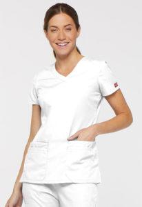 Dickies V-neck top medical scrub shirt 85906