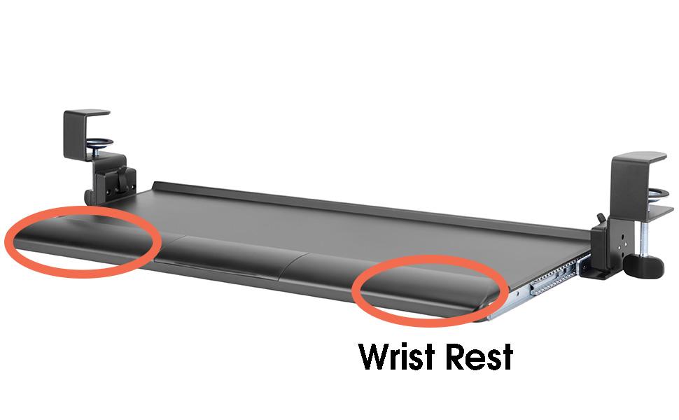 Allcam KBT08T tilting keyboard tray wrist supports rest