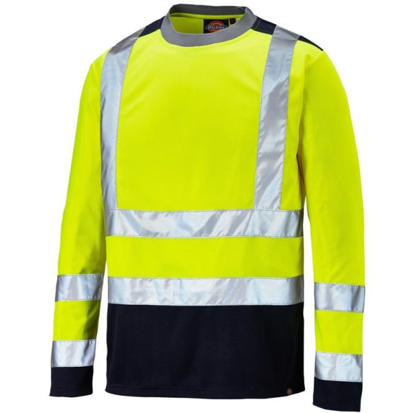 Dickies SA22032 Two Tone Hi Vis high visibility t-shirt vest safety security wear