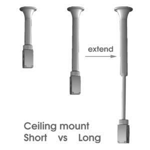 telescopic ceiling mount for click track light systems