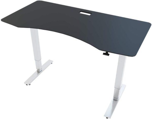 Allcam GDF12 Gas Spring Height Adjustable Desk Frame with black top