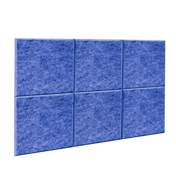 Acoustic Panel screen in Blue 6 pack divider