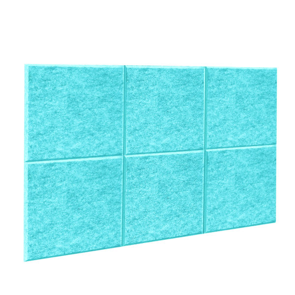 Acoustic Panel screen in Teal 6 pack divider